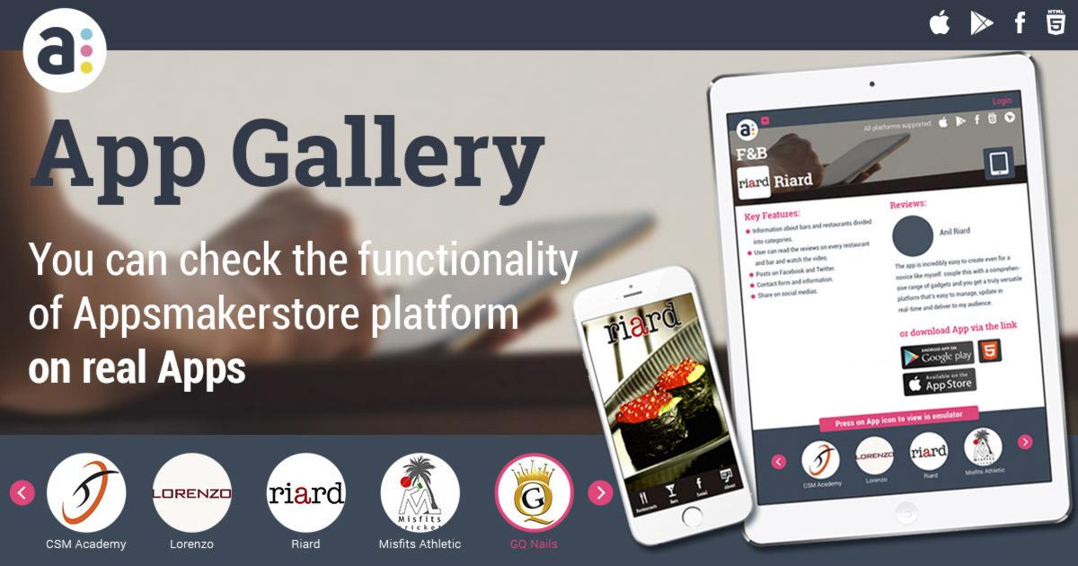 Appsmakerstore App Gallery